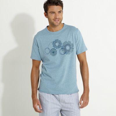 Blue circles design t-shirt