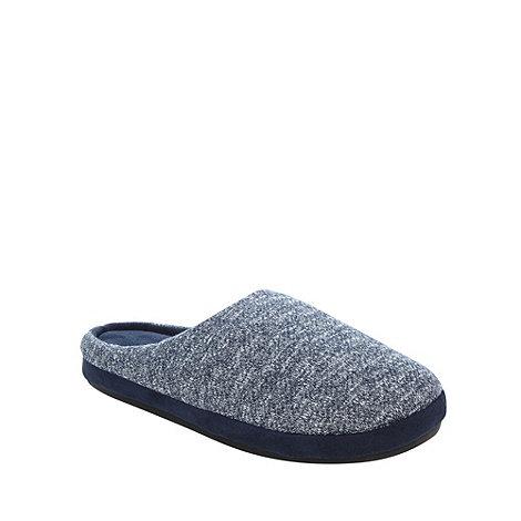RJR.John Rocha - Designer blue knitted mule slippers