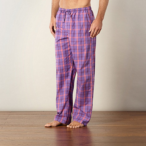 Calvin Klein - Purple woven checked bottoms