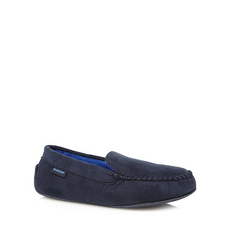 Totes - Navy moccasin slipper
