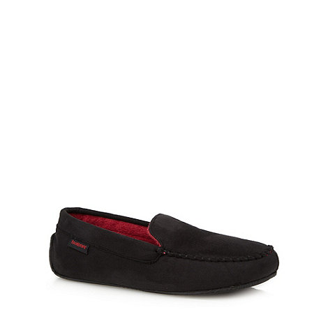 Totes - Black driving moccasin slippers