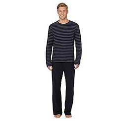 Maine New England - Navy striped shirt and cord bottoms loungewear set