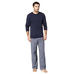 Maine New England - Navy striped brushed loungewear set