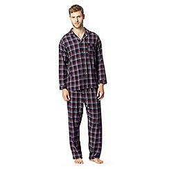 Maine New England - Wine checked brushed cotton pyjama set