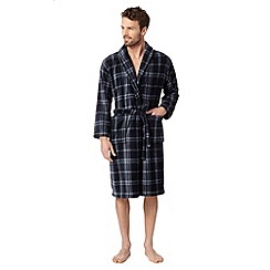 Maine New England - Navy checked shawl collar dressing gown