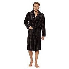 RJR.John Rocha - Navy striped fleece dressing gown