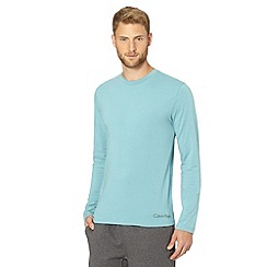 Calvin Klein - Turquoise long sleeved crew neck t-shirt