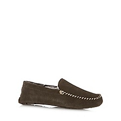 RJR.John Rocha - Designer gift boxed chocolate suede moccasin slippers in gift box