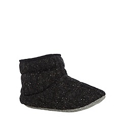 RJR.John Rocha - Designer dark grey knitted slipper boots