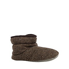 RJR.John Rocha - Designer brown knitted slipper boots