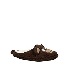 Mantaray - Chocolate monkey mule slippers