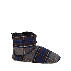 Mantaray - Grey checked slipper boots