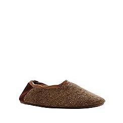 RJR.John Rocha - Designer taupe knitted carpet slippers