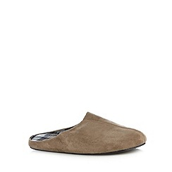 RJR.John Rocha - Tan checked mule slippers