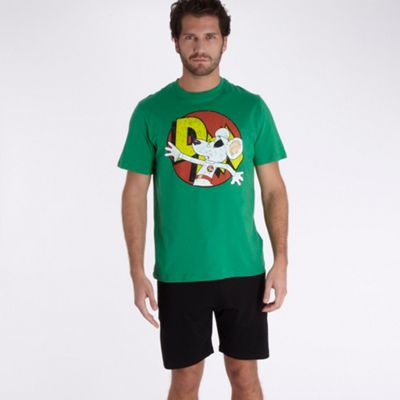 Green Danger Mouse t-shirt and shorts set