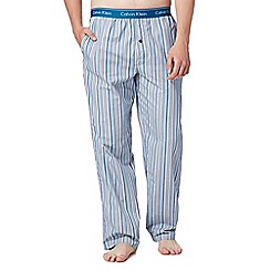Calvin Klein - Blue woven multi striped pyjama bottoms