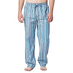 Calvin Klein - Blue striped woven pyjama bottoms