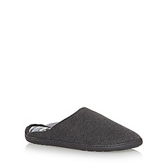 Totes - Grey 'PillowStep' mule slippers