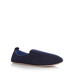 Totes - Navy suedette foam cushioned carpet slippers