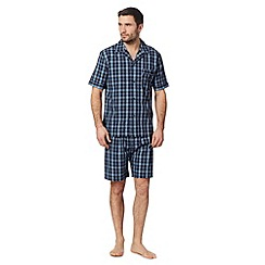 Maine New England - Navy checked shortie pyjama set
