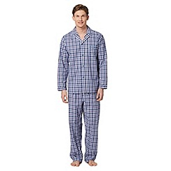 Maine New England - Blue checked loungewear set