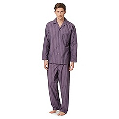 Maine New England - Purple striped loungewear set