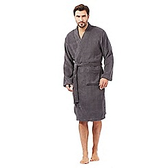 Maine New England - Big and tall grey towelling kimono dressing gown