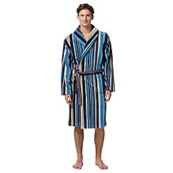 RJR.John Rocha - Designer blue striped velour dressing gown