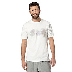 RJR.John Rocha - Designer white watercolour circles print t-shirt