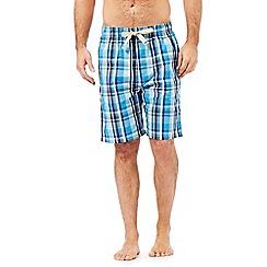 RJR.John Rocha - Designer aqua checked shorts