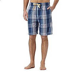 RJR.John Rocha - Designer dark blue checked shorts