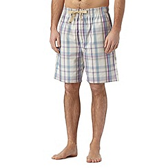 RJR.John Rocha - Designer natural checked shorts