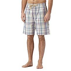 RJR.John Rocha - Designer natural checked shorts