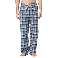RJR.John Rocha - Designer blue brushed checked lounge bottoms