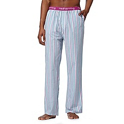 Red Herring - Blue irregular striped lounge bottoms