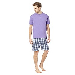 Maine New England - Purple button neck checked loungewear set
