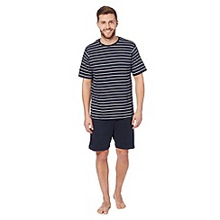 Maine New England - Navy striped t-shirt and shorts pyjama set