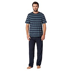 Maine New England - Navy striped t-shirt and bottoms loungewear set
