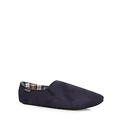 RJR.John Rocha - Designer navy suedette carpet slippers