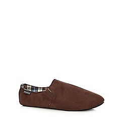 RJR.John Rocha - Designer chocolate suedette carpet slippers