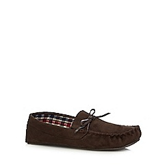 Maine New England - Chocolate suedette moccasin