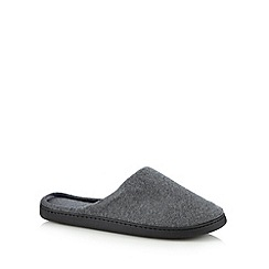 Maine New England - Grey towelling mule slippers
