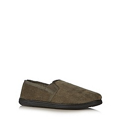 Maine New England - Khaki cord carpet slippers