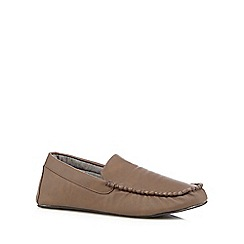 RJR.John Rocha - Chocolate cotton lined moccasin slippers