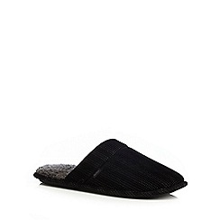 Totes - Black cord mule slippers gift box