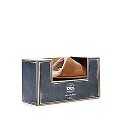 Totes - Tan suedette mule slippers in a gift box