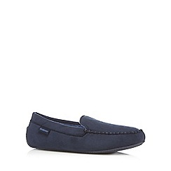 Totes - Navy driving sole moccasin slippers
