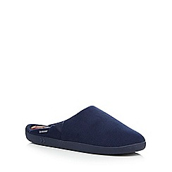 Totes - Navy fleece mule slippers