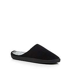 Totes - Black cord mule slippers