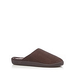 Totes - Brown cord mule slippers